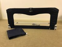 BabyDan folding bed guard, navy blue, excellent condition from a smoke free and pet free home.
