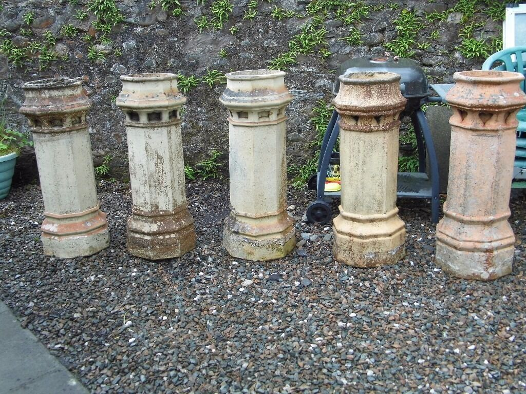 antique victorian chimney pots garden planters for sale 60 each o n o 5 available in. Black Bedroom Furniture Sets. Home Design Ideas