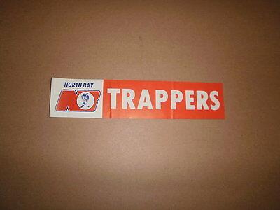 NOJHL North Bay Trappers Vintage Logo Bumper Sticker