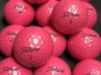 Mixed Brand Ladies Pink Golf Balls x 50. Pearl Condition