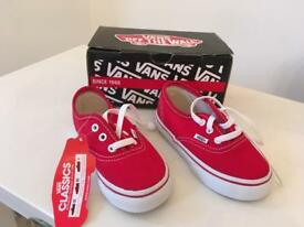 Red Vans Kids Shoes
