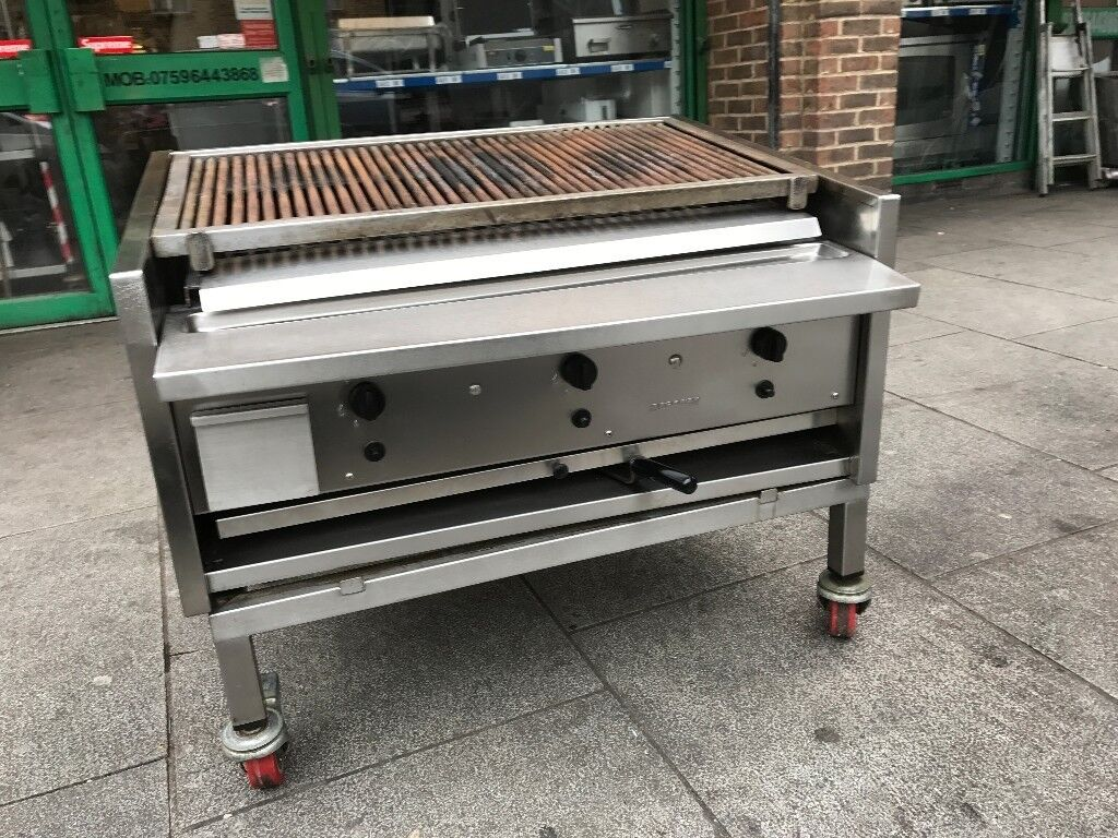 ARCHWAY GAS CHARCOAL BBQ KEBAB GRILL 3 BURNER CATERING COMMERCIAL ...