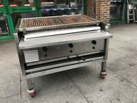 ARCHWAY GAS CHARCOAL BBQ KEBAB GRILL 3 BURNER CATERING COMMERCIAL KITCHEN CAFE CHICKEN SHOP BAR