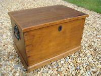 Wooden Blanket Box / Chest (W 55cm x D 37cm x H 36cm)