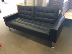 *100% GUARANTEED PRICE!**BRAND NEW Bonded Leather Sofa Bed-Same Day Delivery-Limited Edition