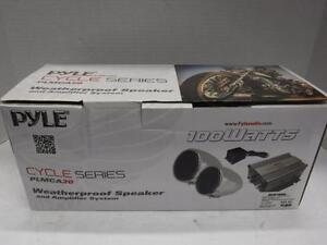 Pyle Motorcycle Mount Amp And Speaker. We Sell Car Audio Equiptment. 21360*