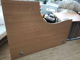 Large 1 inch thick office cantilever wrap around desk 160 x 120, 74 high