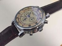 New Patek Philippe Silver Case Automatic Watch, See Through back