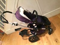 Navy Bugaboo Cameleon full travel system excellent condition