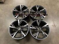 "18 19 20"" Inch Audi 2020 RS6 style alloy wheels A3 A4 A5 A6 A7 A8 Caddy Seat Leon Passat Skoda 5x112"