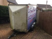 Sorry now gone. Free... fibreglass box trailer in need of some repair