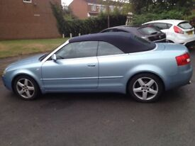 AUDI A4 1.8T SPORT CABRIOLET CONVERTIBLE - BLUE - FSH, HEATED LEATHER, BOSE SOUND