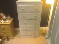 Chest of drawers chalk painted blue