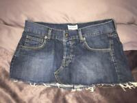 Topshop moto short denim Skirt size 10