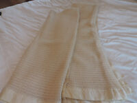 Two Cream Vintage All Wool Cellular Blankets