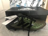 Brand New Adidas predator malice rugby boots SIZE 44 (UK9.5), never been worn, with box and lables