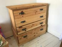 Solid Pine Ikea Chest Of Drawers