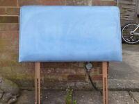 headboard - blue velour single bed