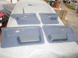 bmw e30 vgc BLUE 4DOOR DARDCARDS . --- bargain !