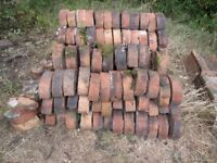 Vintage / Victorian Half Round / Half Moon Red Coping Bricks, Reclaimed, 165 in total.