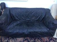 Leather Covered Sofa