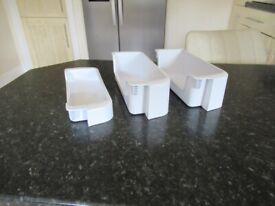 Set of 3 freezer door shelves for Samsung american fridge freezer RSH1 series