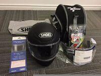 SHOEI NRX Helmet, Immaculate condition, Matt Black Large (59-60) (Loads of Freebies)