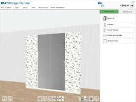 NEW IKEA PAX LARGE WARDROBE 2mx201x60cm WHITE , MARNARDAL VIKEDAL DOORS.