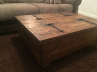 Hand made rustic coffee table / trunk / storage chest