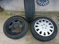 (VAUXHALL)Astra Van Steel Rims With Tyres like New.