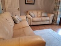 Cream Leather sofas free for collection