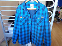 Mens Superdry Rookie Twill Padded Shirt / Jacket - Large