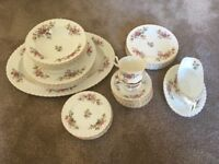 Reduced for quick sale. 36 Piece China Dinner Service (partial) Royal Albert Moss Rose