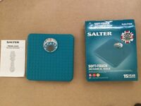 Brand New-Salter Bathroom scales-Taupe blue-quality-£12