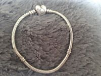 pandora bracelet, with 5 charms
