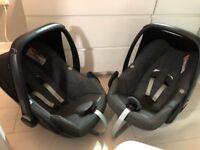 2 x Maxi Cosi Pebble Car Seat