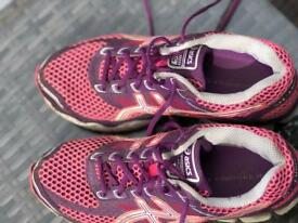 Pink and Purple Girls ASICS Trainers