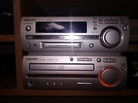 SHARP MD-MX10 GRIGIO ,50 WATTS,CD PLAIER AND RECORDABLE, AND MINIDISC