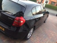 BMW 118d 2007/57 in BLACK INC FSH & 12months MOT