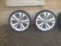 Vauxhall Insignia VXR 20 inch alloy wheels complete with tyres