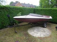 PROJECT BOAT WITH TRAILER FOR SALE