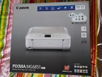 Canon Pixma MG6851 (White with wireless printing) New in box never used set up and ready to go.