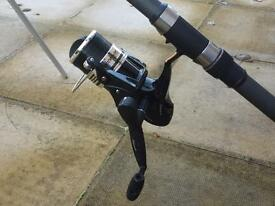 13' Beach casting rod & reel