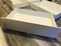 4x IKEA Malm Storage drawers (To fit King Size bed)