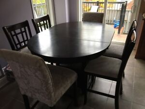 Premium High Dining Table with 6 Chairs