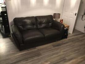 Harvey's leather sofas x2