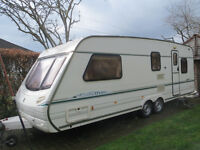 "Abbey Spectrum 520 4/5/6 berth, twin axle 26"" caravan, mover, full awning, annex and ground sheet."
