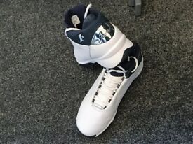 Rare pair of mens Iverson white/blue trainers from USA