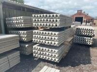 9FT REINFORCED CONCRETE FENCING POSTS - NEW
