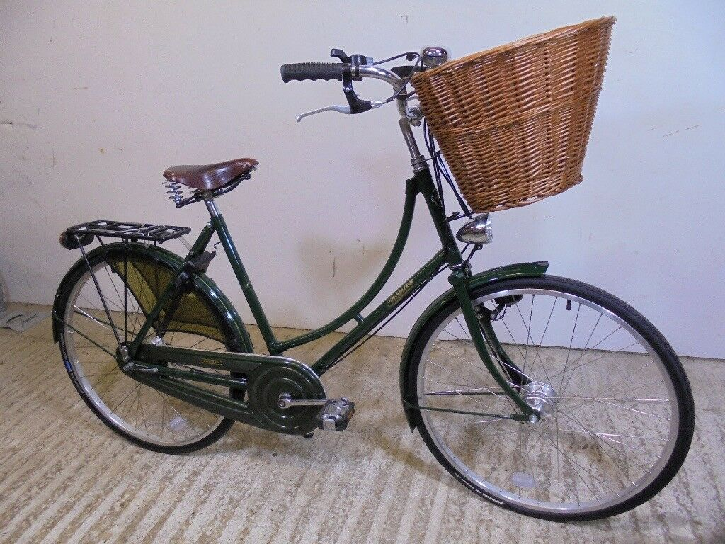 "Pashley Princess Sovereign Ladies Vintage Style Classic Town Bike 20"" Med Racing Green Low Used VGC"